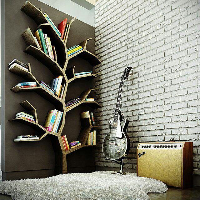 DIY Tree Bookcase