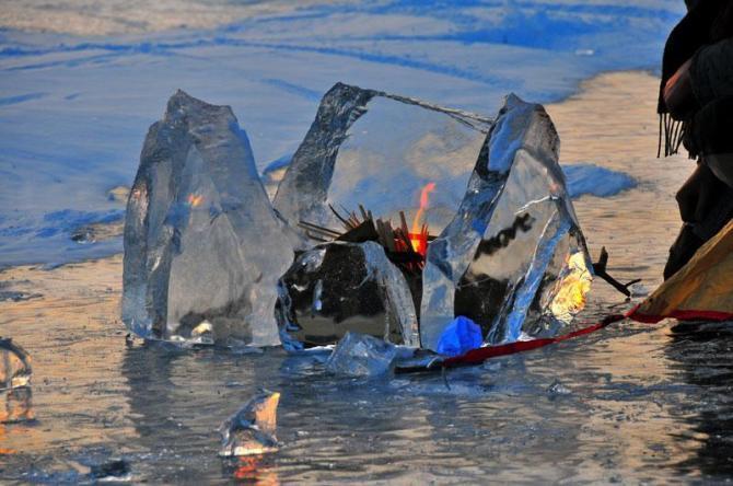 lake Baikal fire
