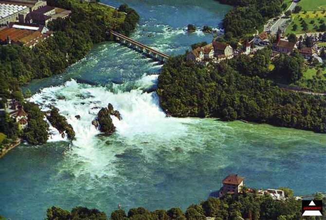 rheinfall Switzerland largest watefall in Europe