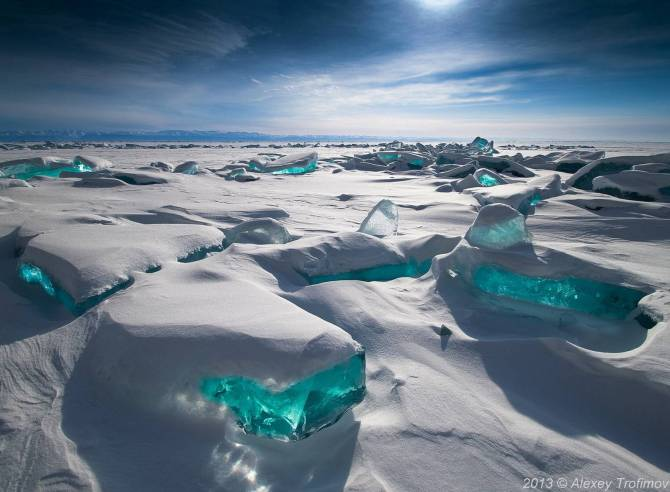 Turquoise Ice Northern Lake Baikal