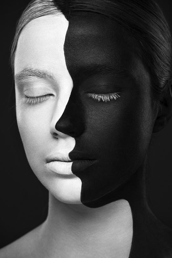 Black and White Photography Two Faces