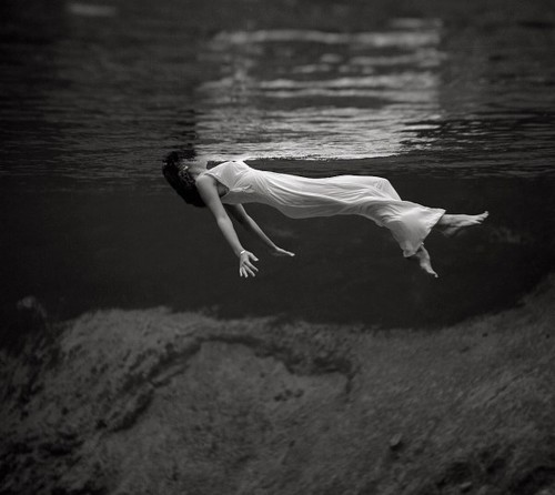 Black and White Photography Girl in Water