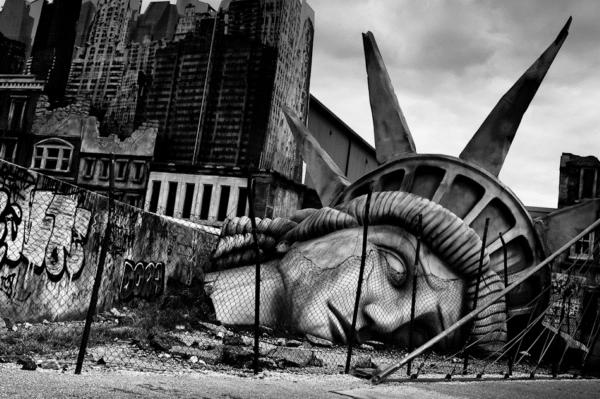Black and White Photography The Statue of Liberty