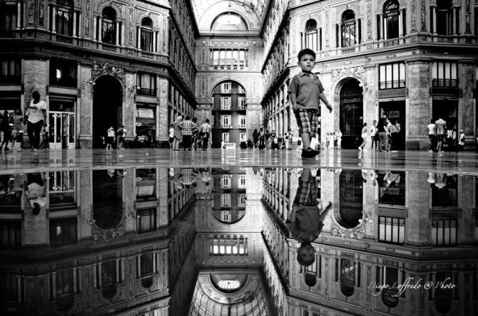 The Mirror City in Black and White Colours