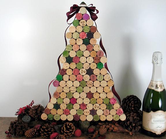 Xmas Tree Made from Wine Corks