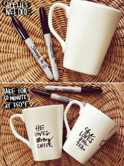 DIY gift cup