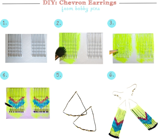 DIY-Project-Bobby-Pin-Earrings-Steps