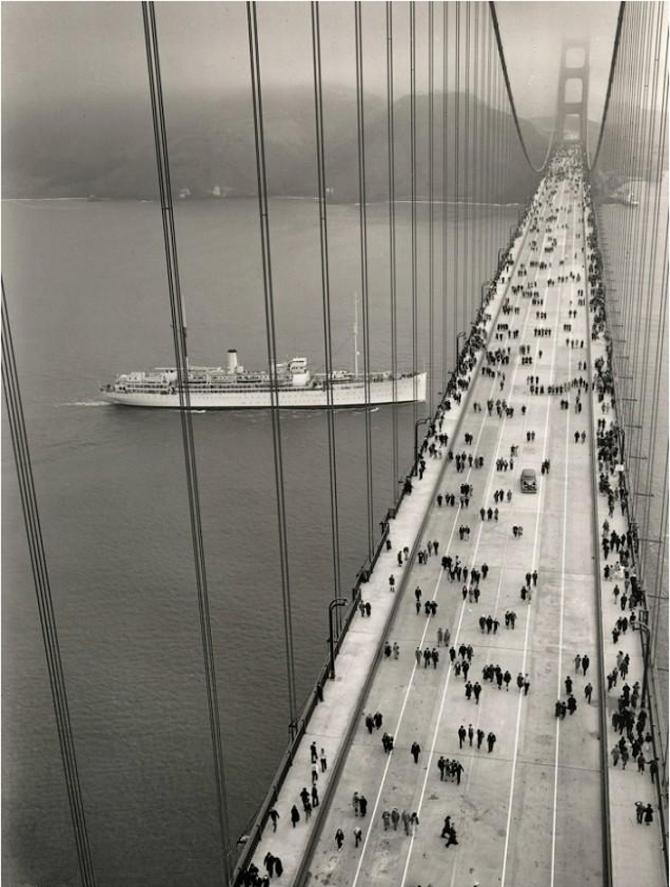 Golden Gate Bridge in 1937
