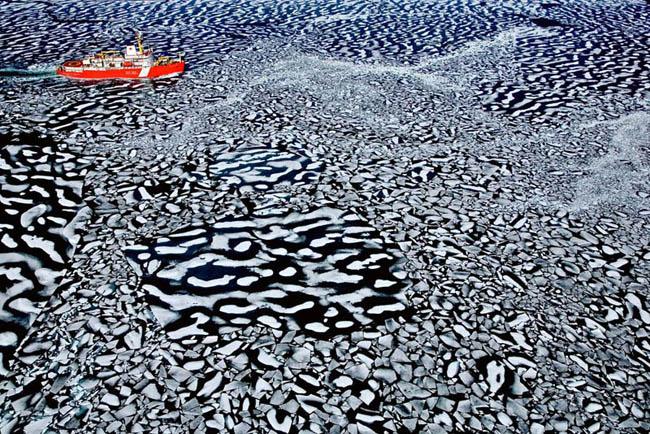Icebreaker near Canada