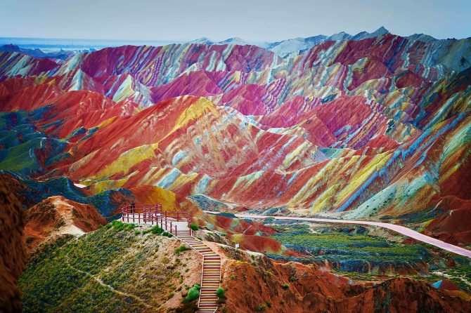 The Rainbow Mountains in China