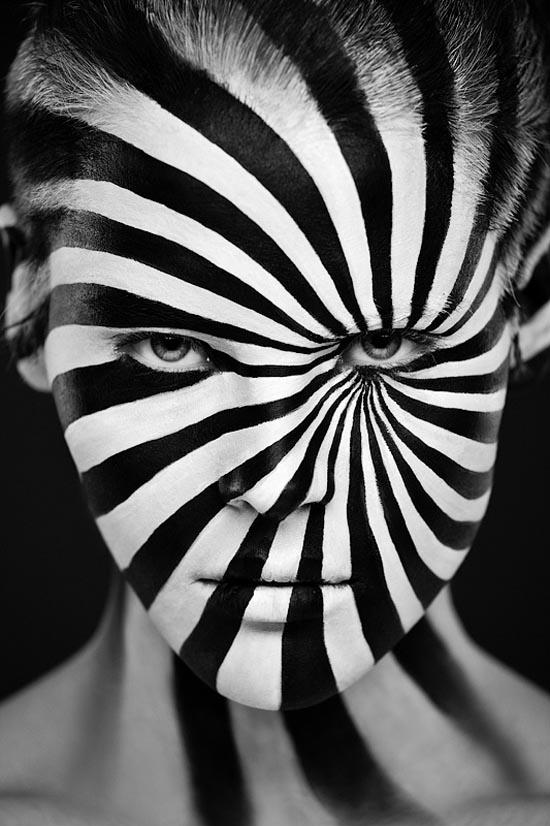 Black and White Zebra Face