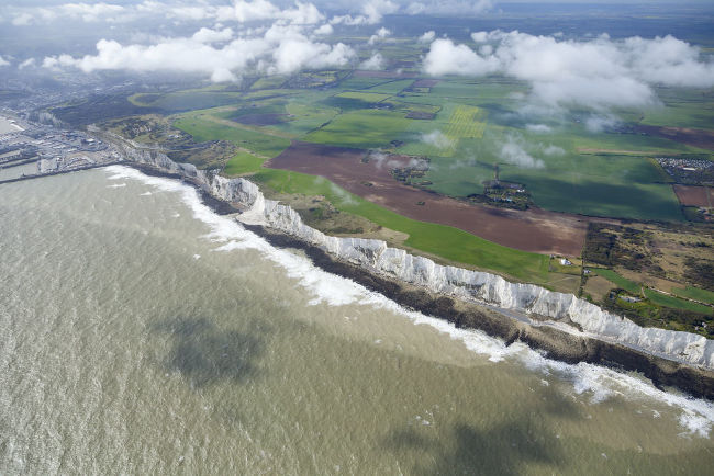 Dover White Cliffs in The United Kingdom