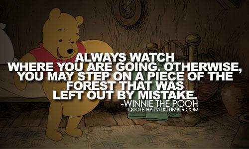 winnie the pooh always watch your step