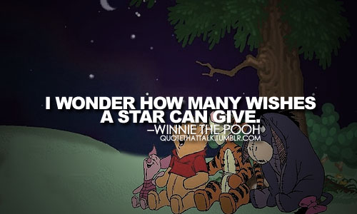 winnie the pooh how many wishes a star can give