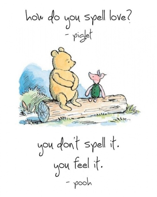 winnie the pooh and piglet how do you spell love