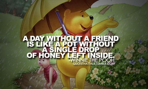winnite the pooh describes a day without friends