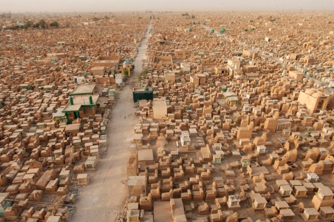 Worlds biggest graveyard wadi us salaam