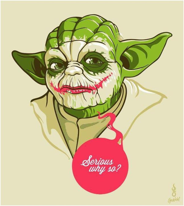 yoda and the jocker funny  cartoon