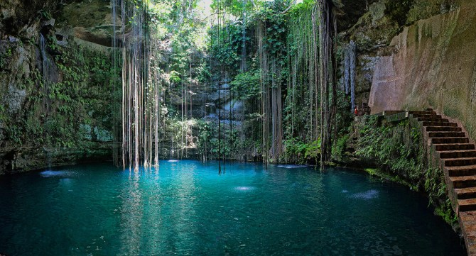 Yucatan Cave Lake in Mexico