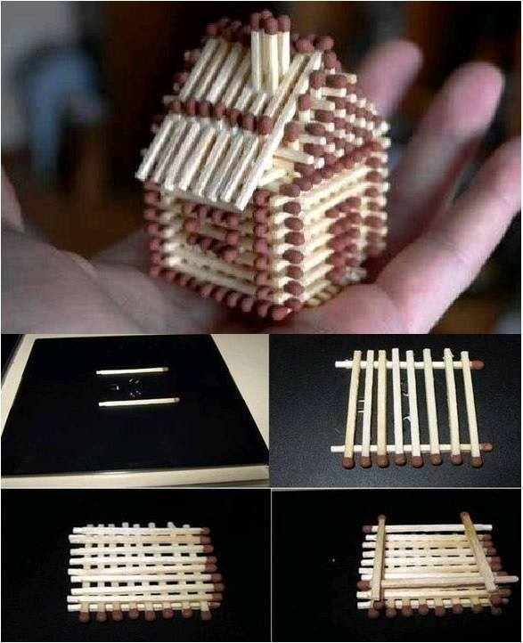DIY House From Matches