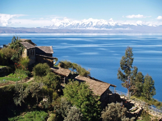 Lake Titicaca in The Andes