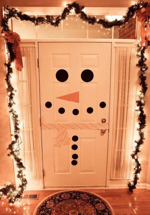 DIY Christmas Door Decoration
