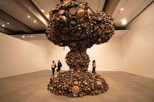 mushroom cloud sculpture