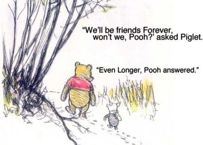Piglet and Winnie The Pooh Together