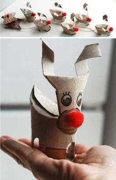 DIY Toilet paper reindeer