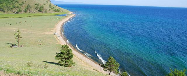 Summer View of The Russian Lake Baikal