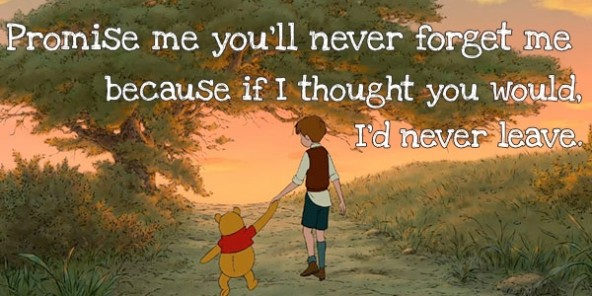 Never leave me!