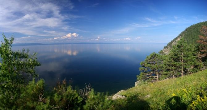Beautiful summer shot of lake Baikal in Russia