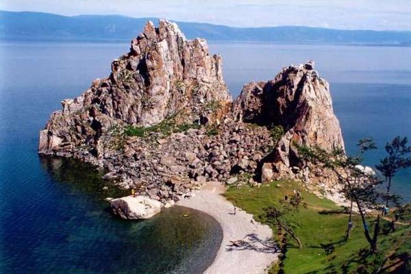 The famouse rock in lake Baikal in Siberia