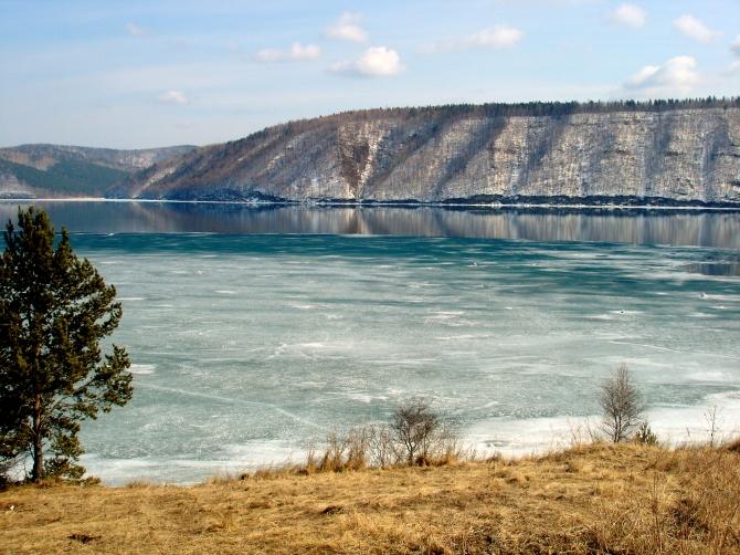 beautiful photo of lake baikal and its blue water