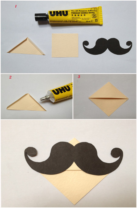 DIY Moustache Bookmark