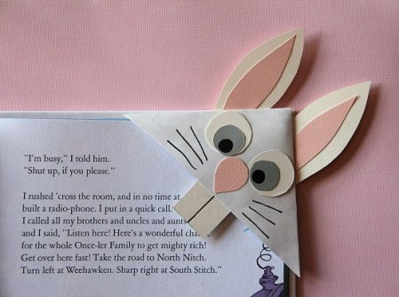 Cool Rabbit DIY Paper Corner Bookmark
