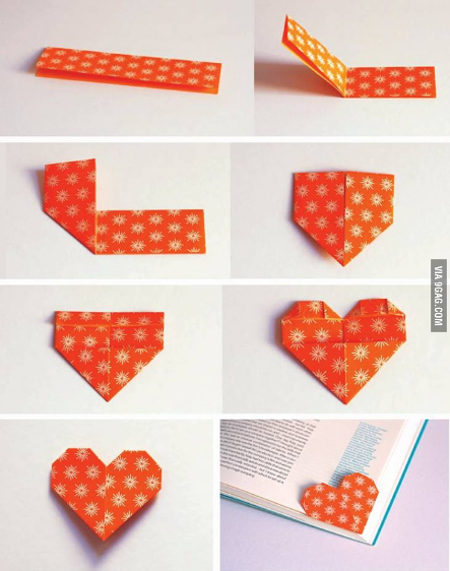Easy DIY Heart Bookmark