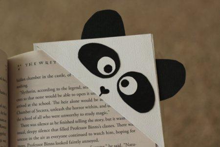 Paper Panda Corner Bookmark