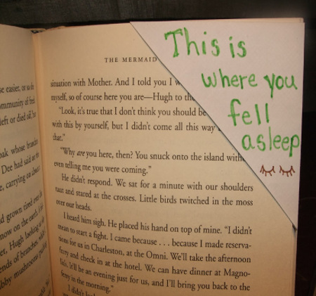 This is Where You Fell Asleep Corner Bookmark