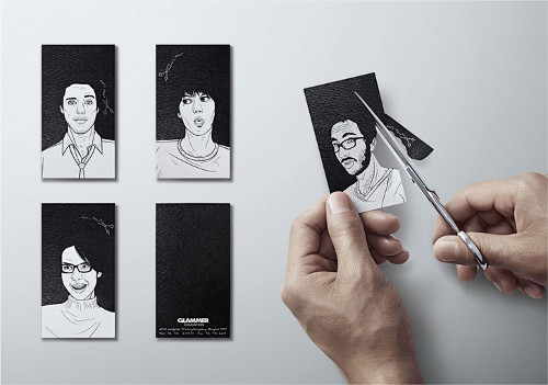 Creative Business Card With Custom Haircuts