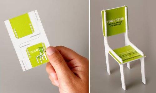Creative DIY Chair Business Card