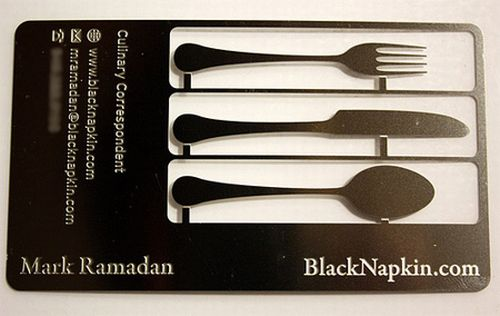 Cutlery Business Cards