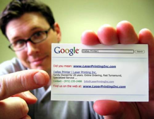 Creative Google Business Card