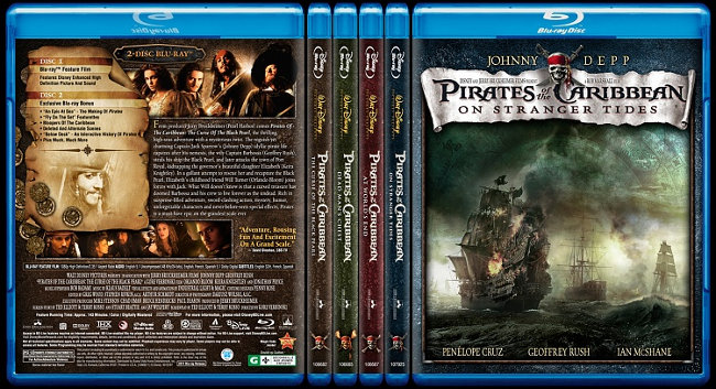 Pirates of The Caribbeans Blue Ray Cover