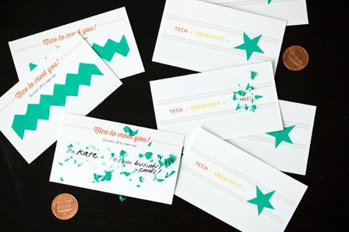 Creative Scratching Business Card