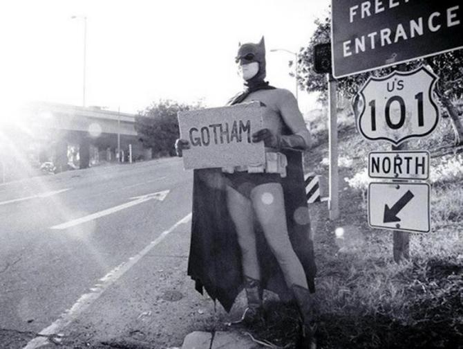 Hitchhiker Batman