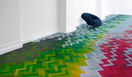 Coloured Parquet Floor