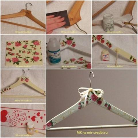 easy decoupage hanger tutorial