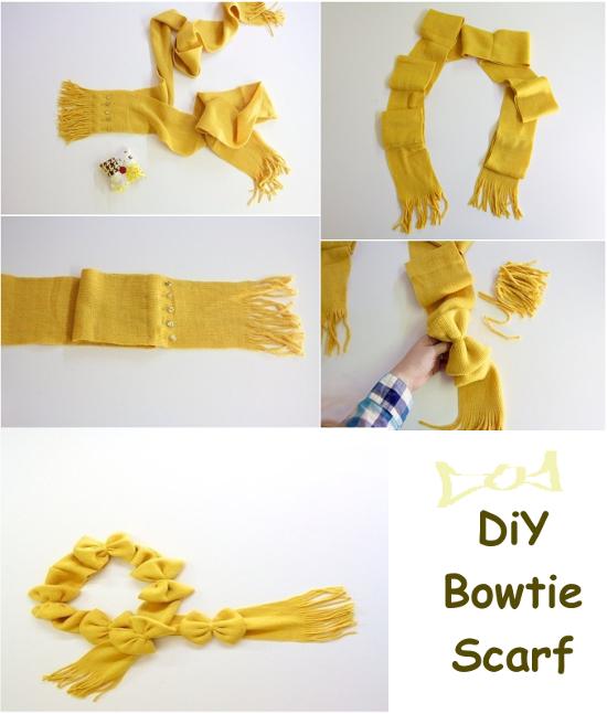 easy diy baow tie scarf