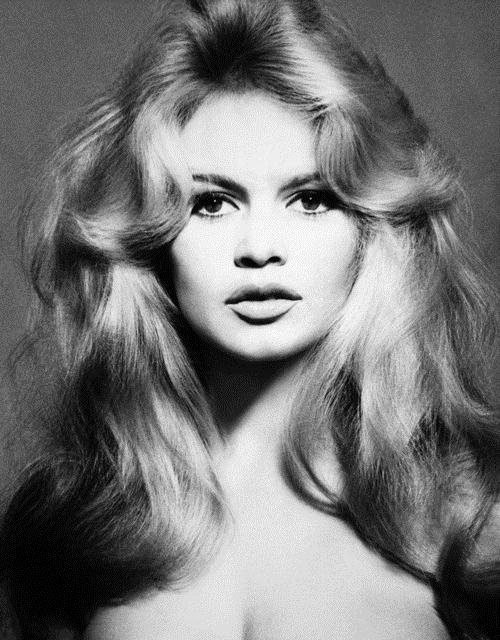 brigitte bardot black and white portrait